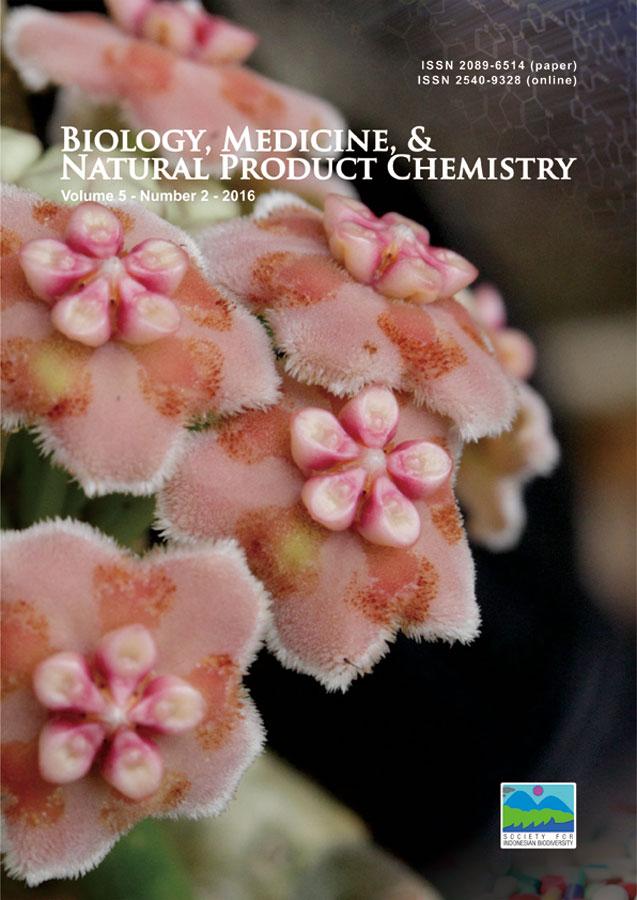 Biology, Medicine, & Natural Product Chemistry 5 (2), 2016